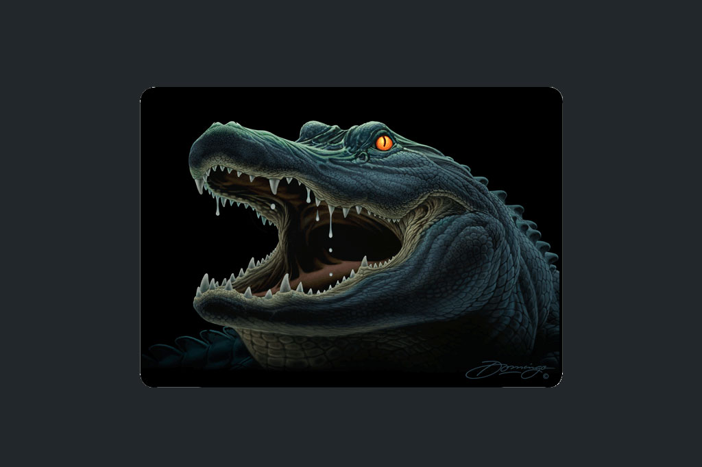 Smilin' Gator - Cutting Boards - Artist - Ray Domingo - Gulfport, FL