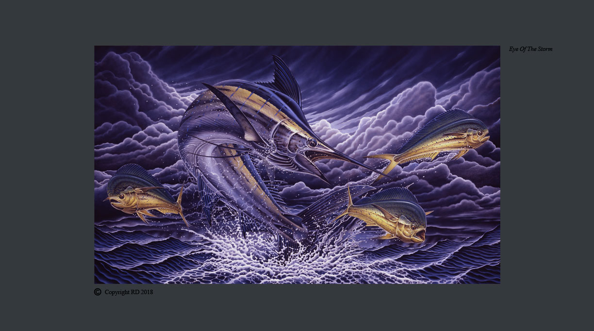 Eye of the Storm (Marlin) - Giclees - Artist - Ray Domingo - Gulfport, FL