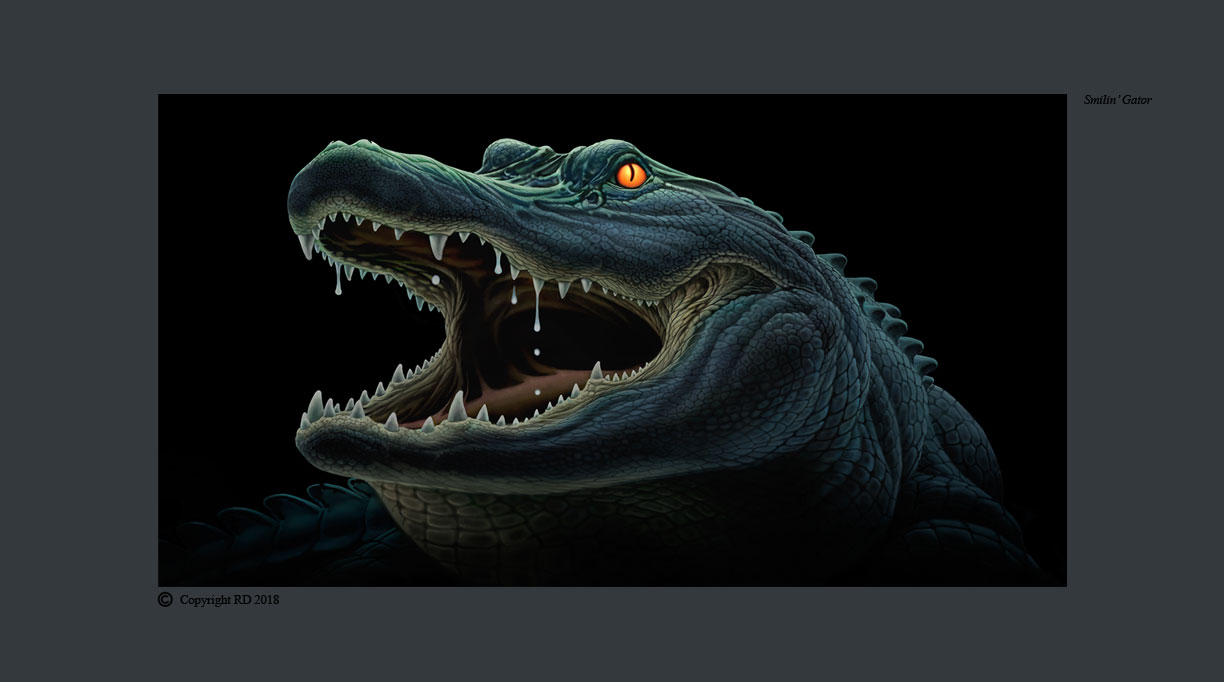 Smilin' Gator - Giclees - Artist - Ray Domingo - Gulfport, FL