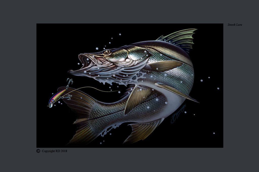 Snook Lure - Giclees - Artist - Ray Domingo - Gulfport, FL