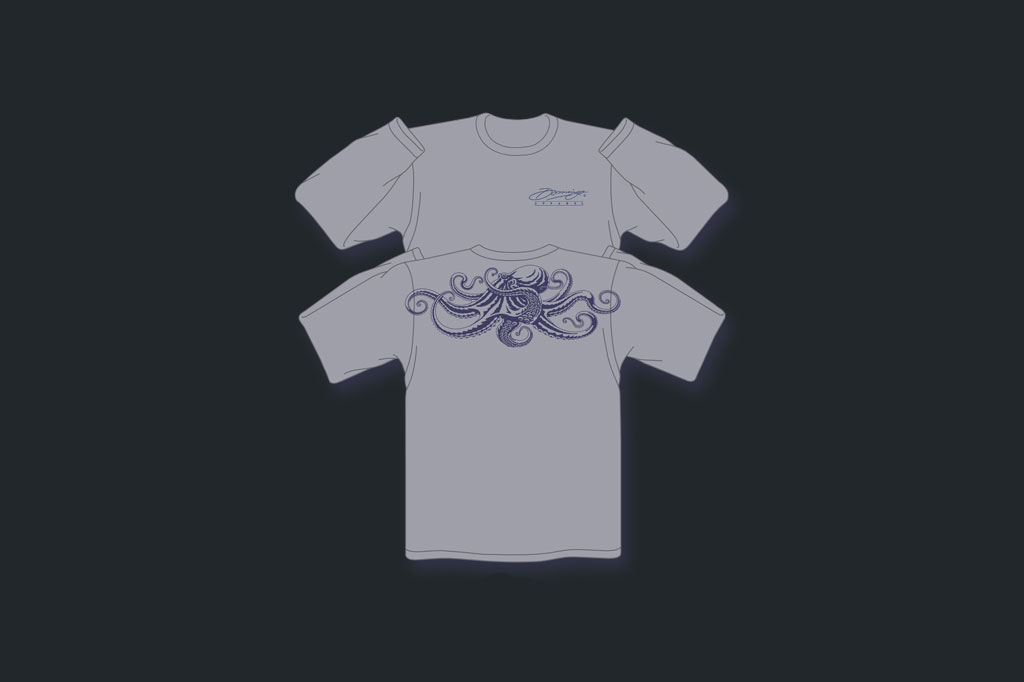 Grey Octopus - Performance LS - Men's Apparel - Artist - Ray Domingo - Gulfport, FL