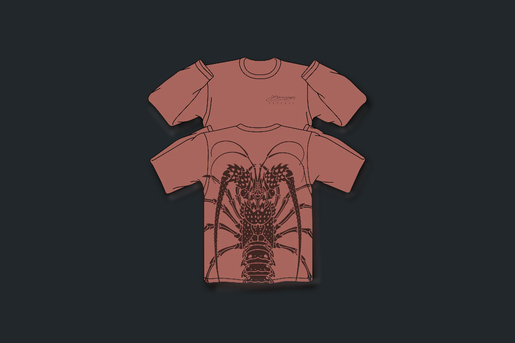 Salmon Lobster - Performance LS - Men's Apparel - Artist - Ray Domingo - Gulfport, FL